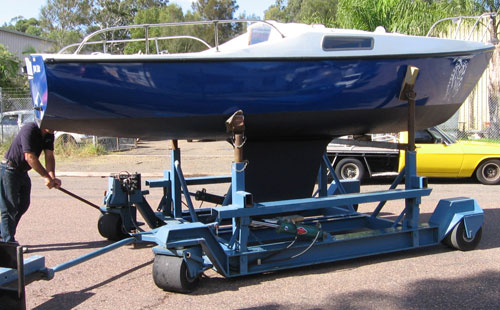 custom built yacht cradle 05