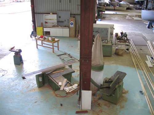 example of a boat building workshop