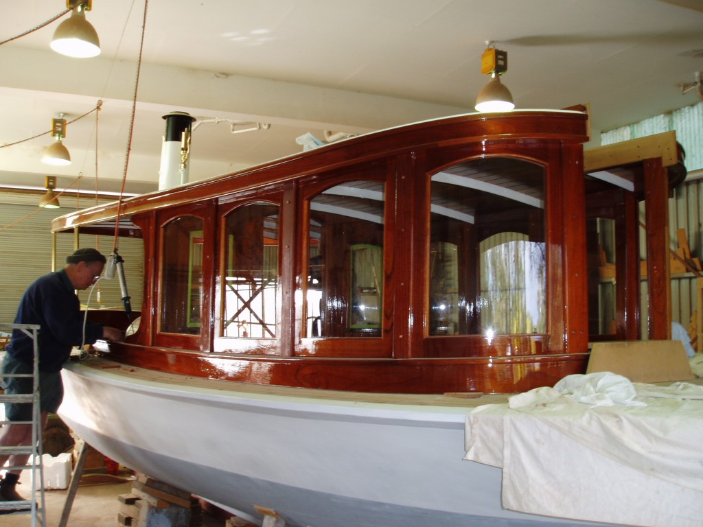 finishing a timber boat