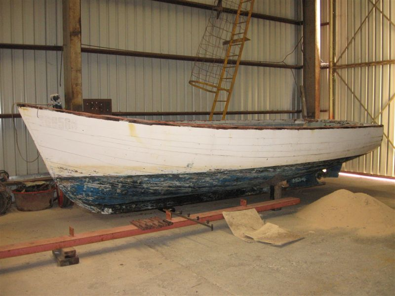 timber boat to be repaired