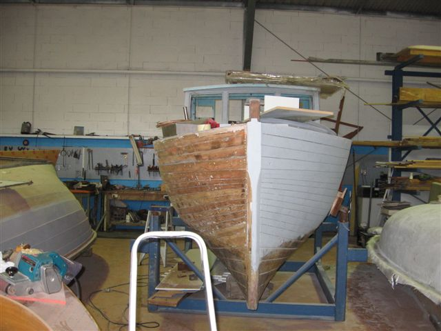wooden boat painting 04