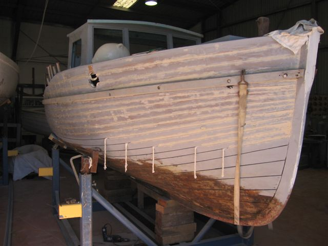 wooden boat painting 05