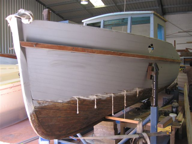 wooden boat painting 06