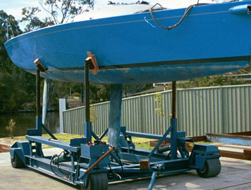 yacht ready for antifouling